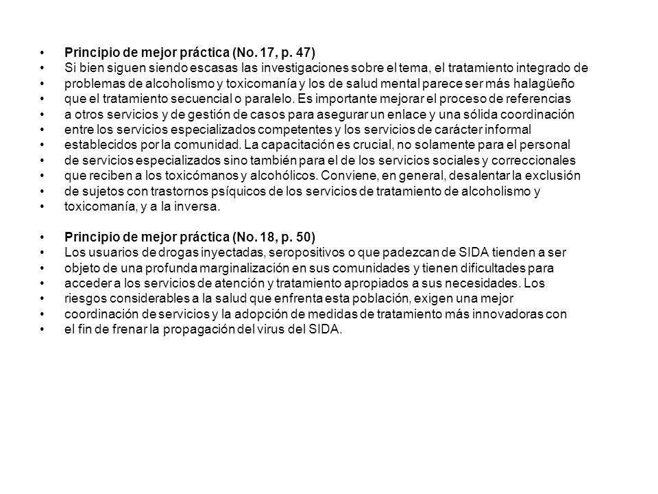 Principio de mejor práctica (No. 17, p. 47)