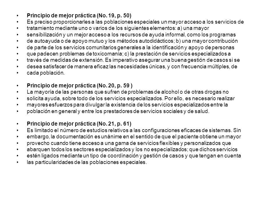 Principio de mejor práctica (No. 19, p. 50)