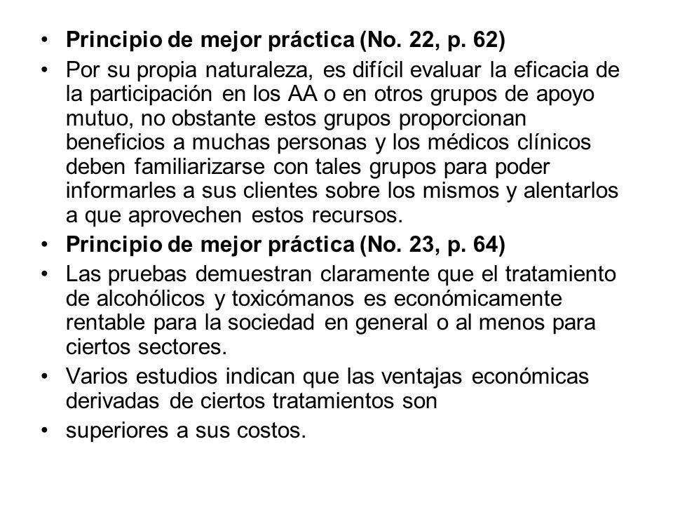 Principio de mejor práctica (No. 22, p. 62)