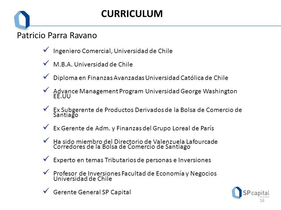 CURRICULUM Patricio Parra Ravano