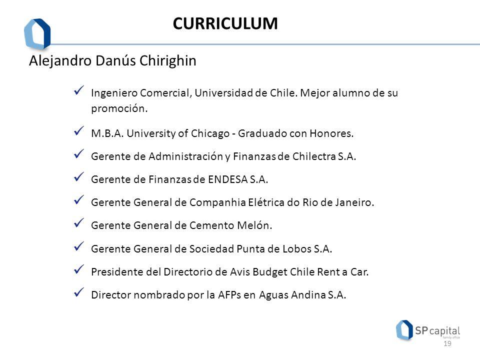 CURRICULUM Alejandro Danús Chirighin