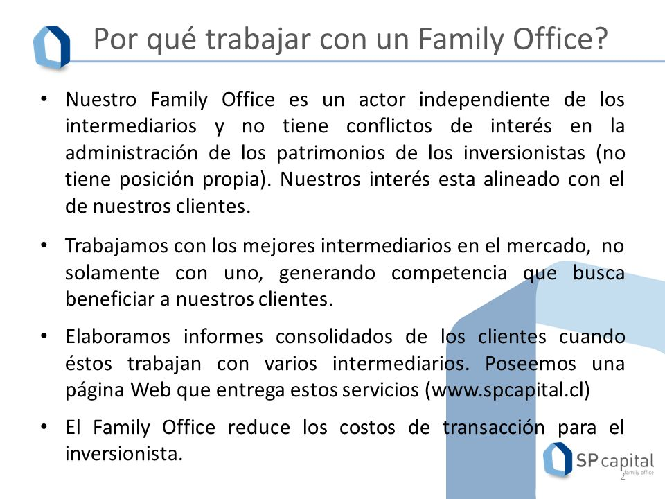 Por qué trabajar con un Family Office