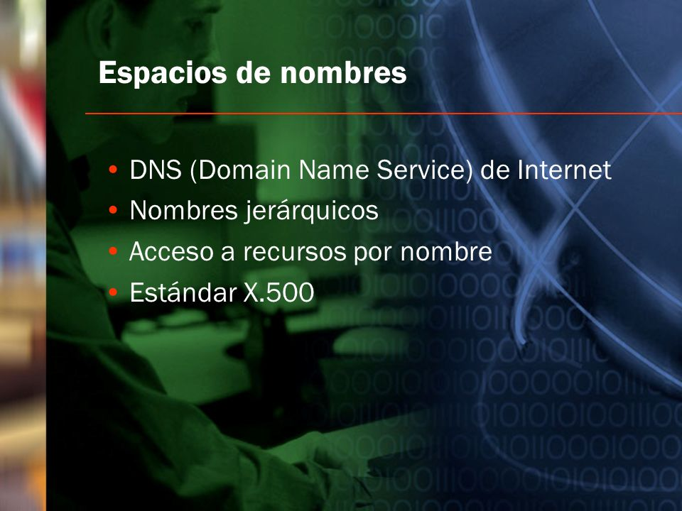 Espacios de nombres DNS (Domain Name Service) de Internet