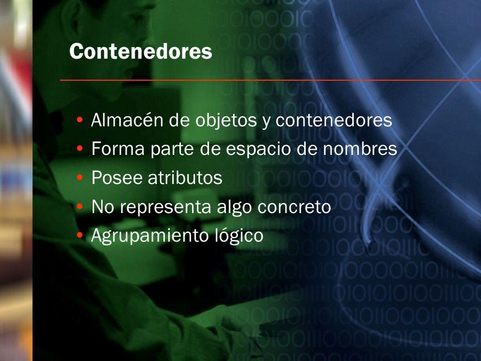 Contenedores Almacén de objetos y contenedores