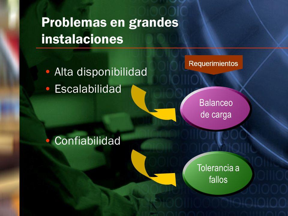 Problemas en grandes instalaciones