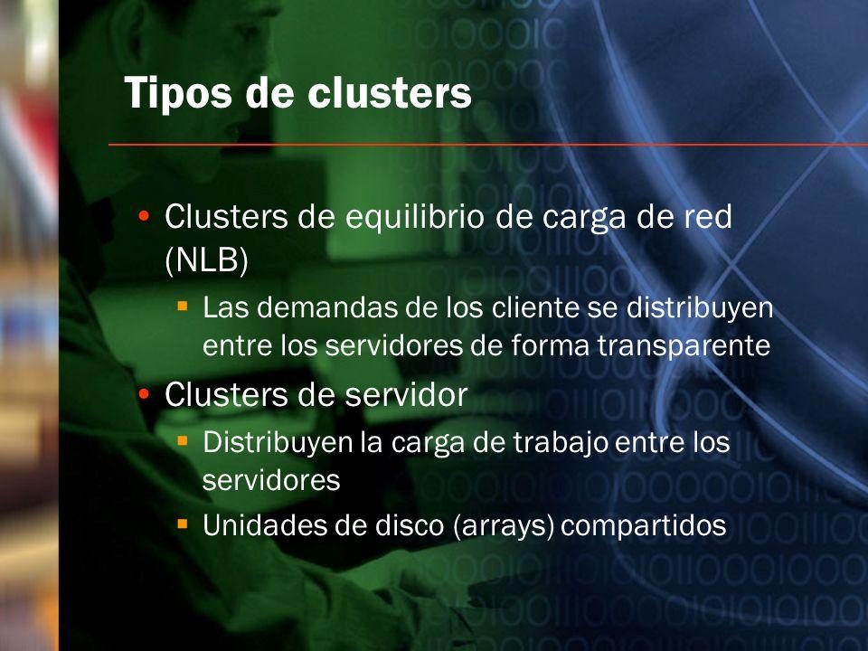 Tipos de clusters Clusters de equilibrio de carga de red (NLB)