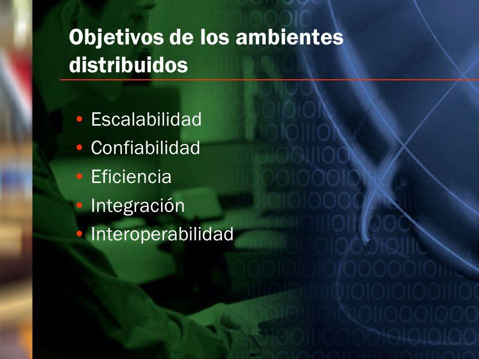 Objetivos de los ambientes distribuidos