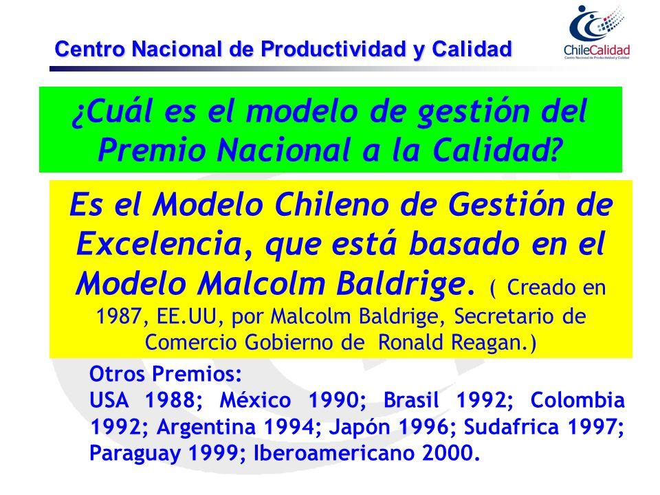 ¿Cuál es el modelo de gestión del Premio Nacional a la Calidad