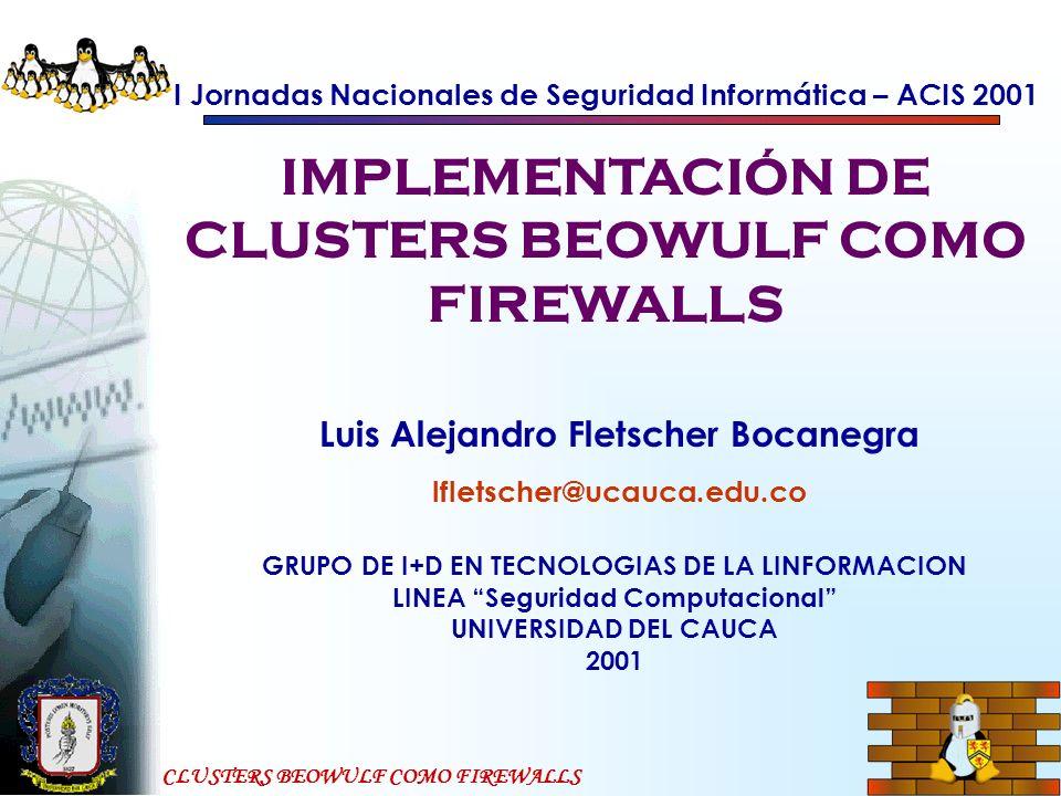 IMPLEMENTACIÓN DE CLUSTERS BEOWULF COMO FIREWALLS