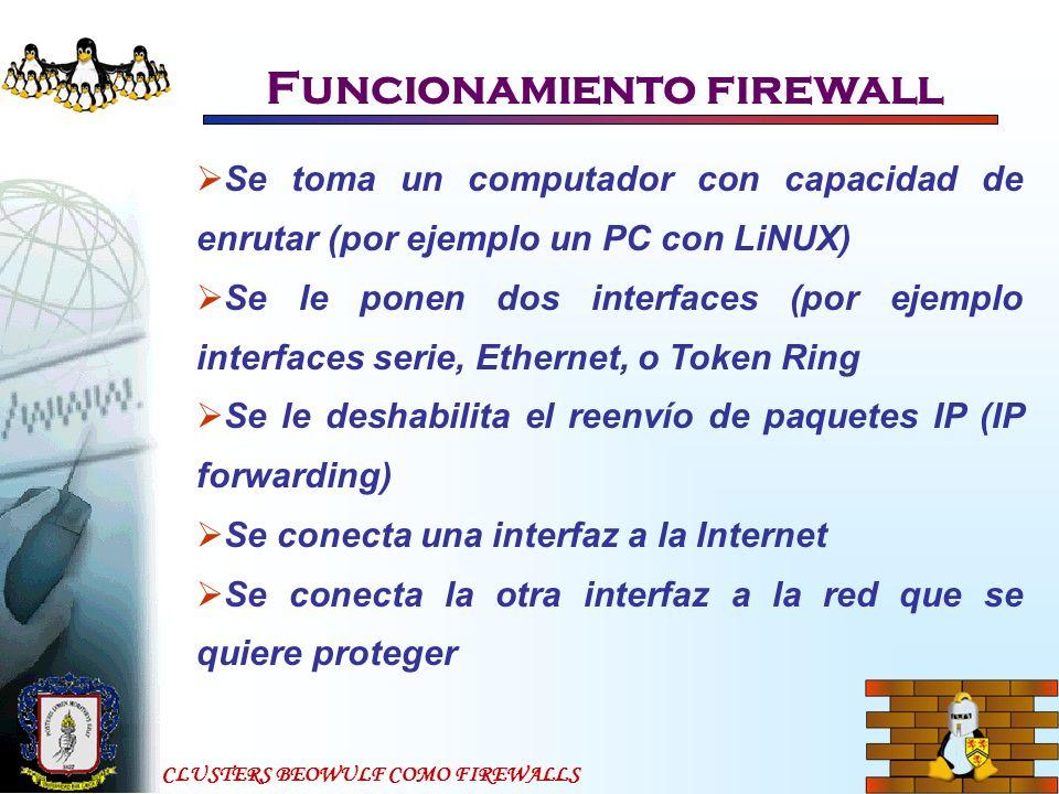 Funcionamiento firewall