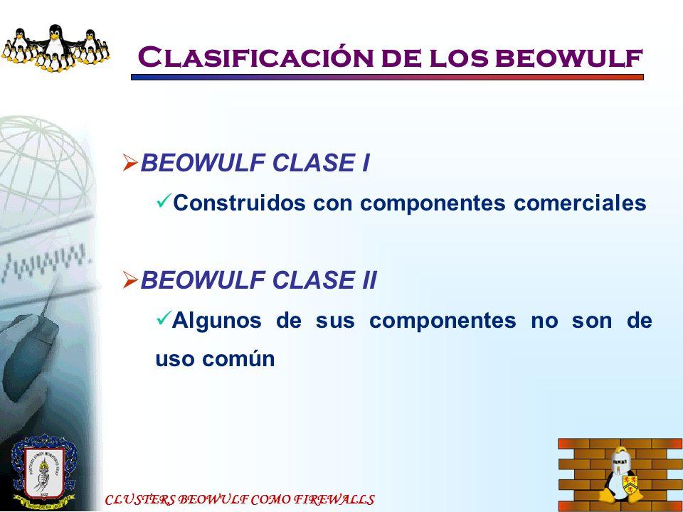Clasificación de los beowulf