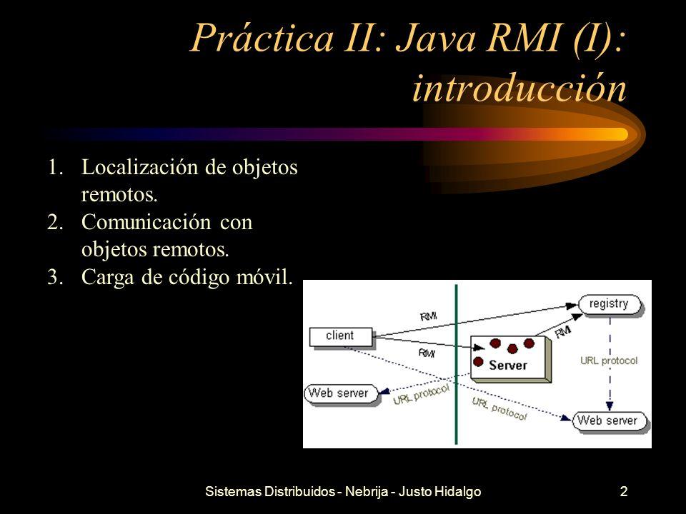 Práctica II: Java RMI (I): introducción