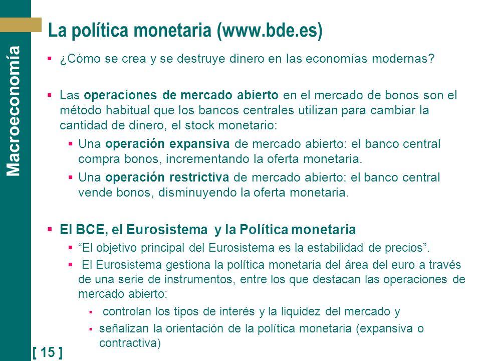 La política monetaria (www.bde.es)