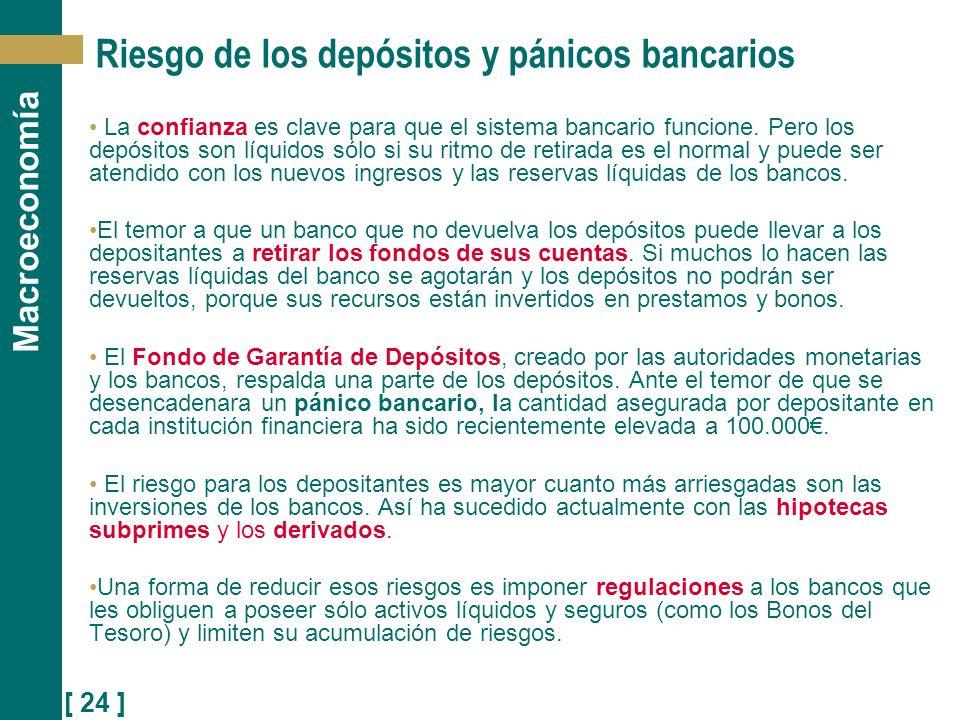 Riesgo de los depósitos y pánicos bancarios