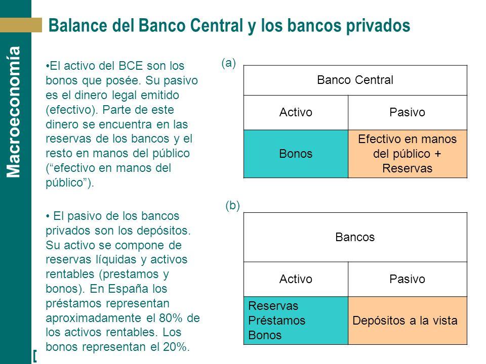 Balance del Banco Central y los bancos privados