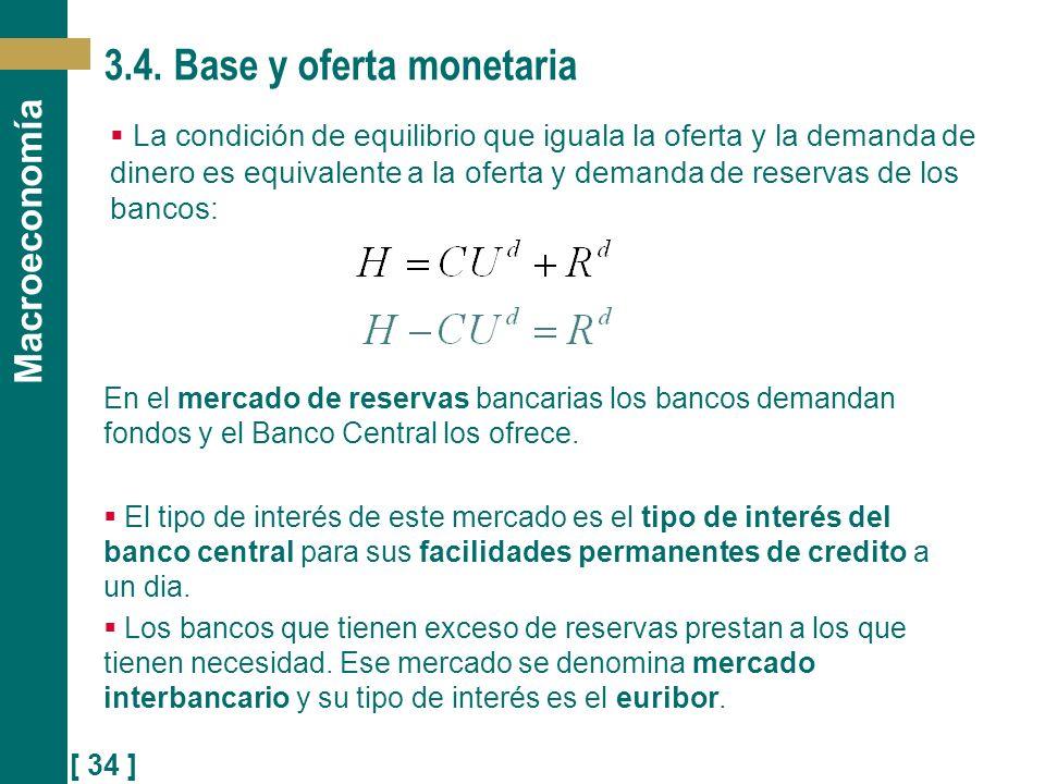 3.4. Base y oferta monetaria