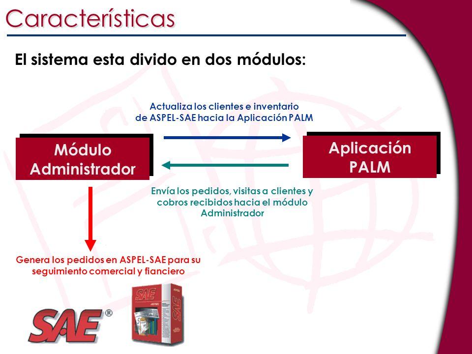 Características El sistema esta divido en dos módulos: