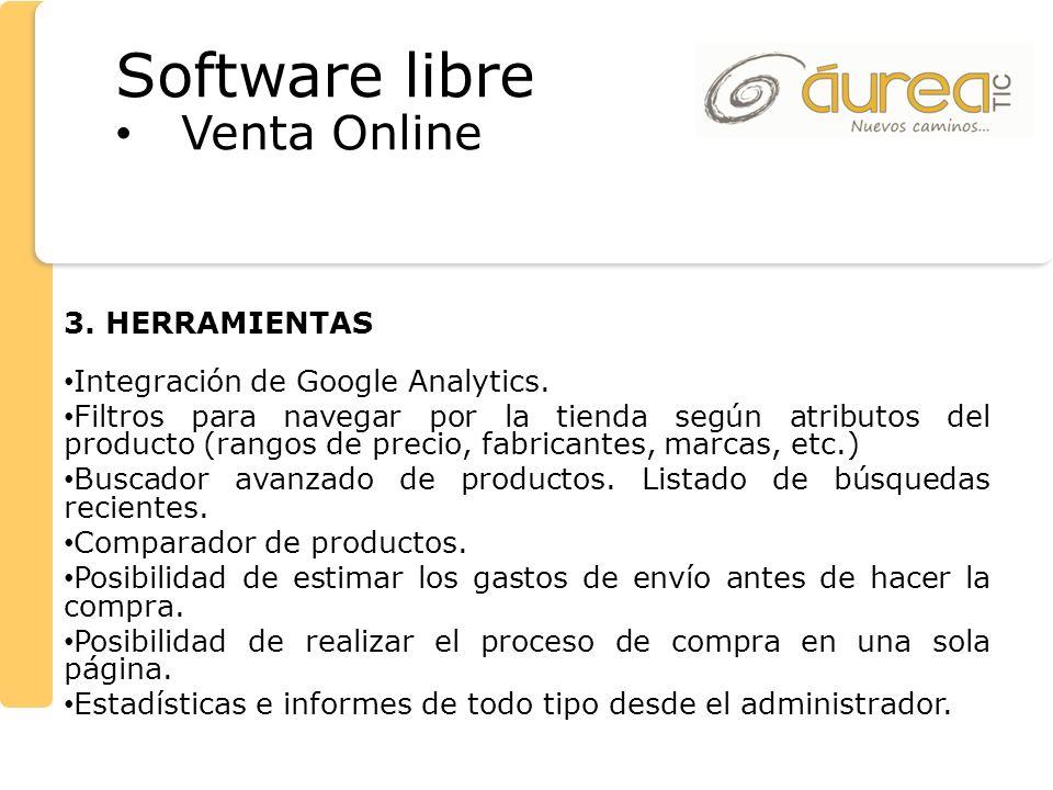 Software libre Venta Online 3. HERRAMIENTAS