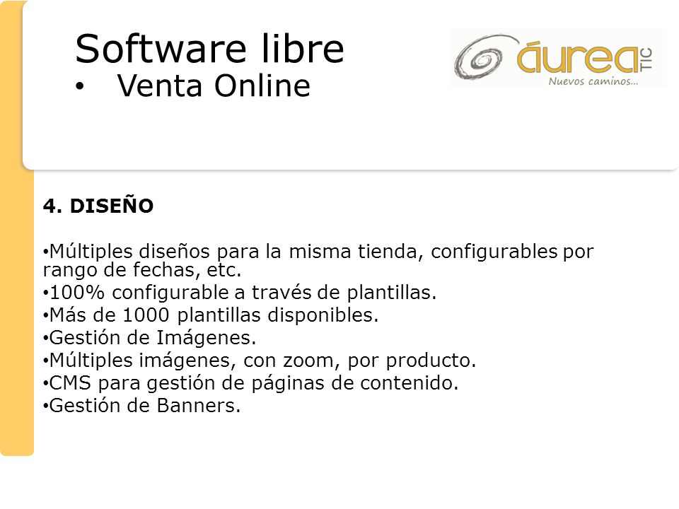 Software libre Venta Online 4. DISEÑO
