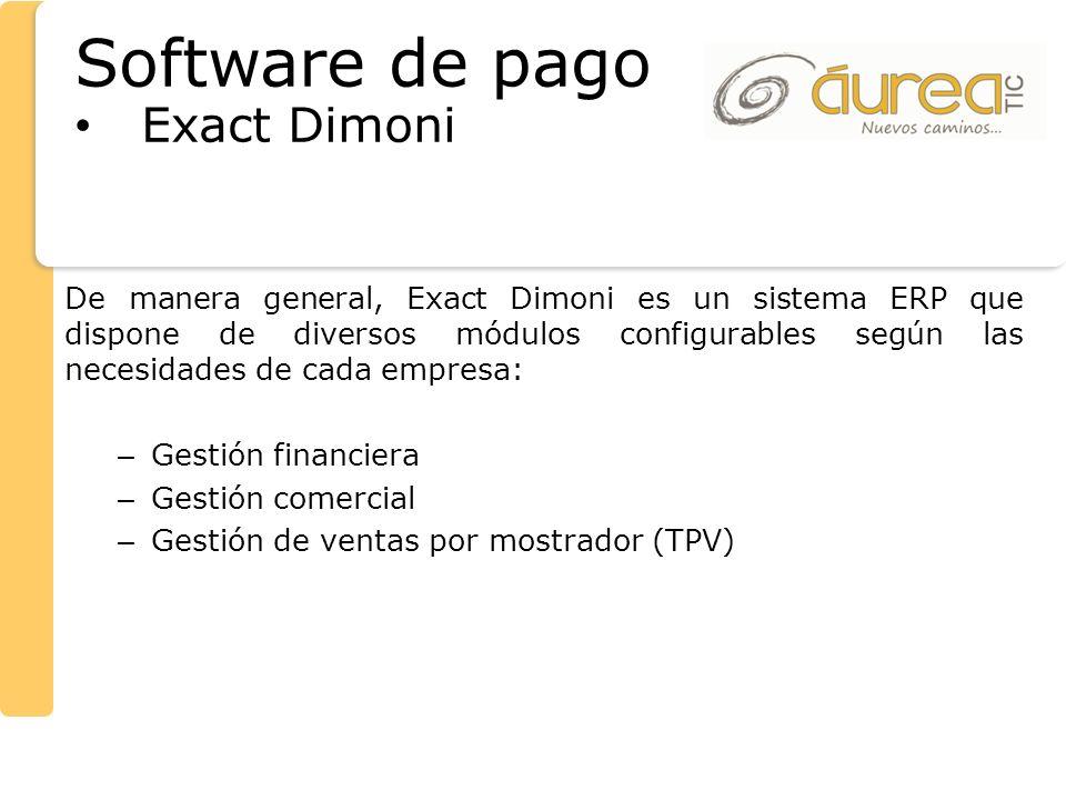 Software de pago Exact Dimoni