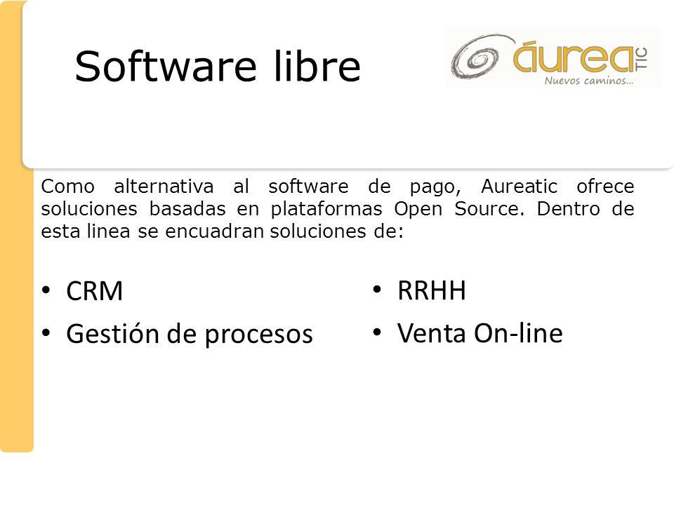 Software libre CRM Gestión de procesos RRHH Venta On-line