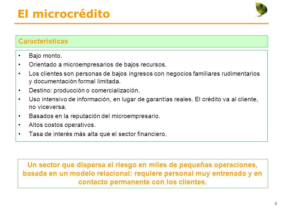 El microcrédito Características