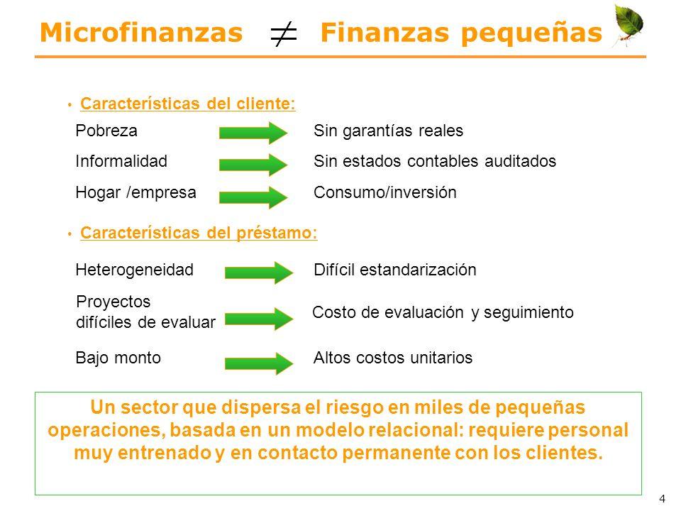 Microfinanzas Finanzas pequeñas