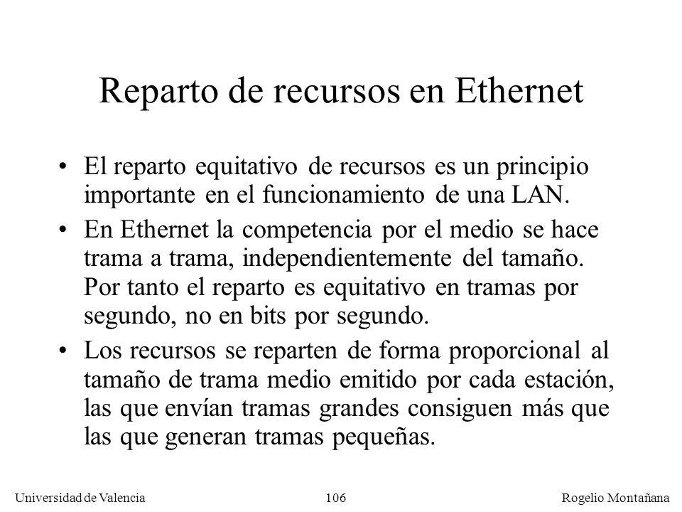 Reparto de recursos en Ethernet