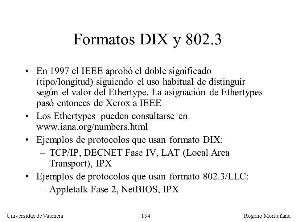 Redes Locales Formatos DIX y 802.3.