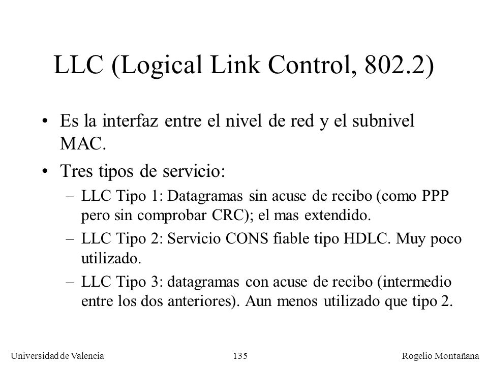 LLC (Logical Link Control, 802.2)