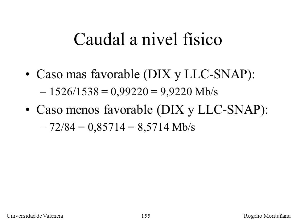 Caudal a nivel físico Caso mas favorable (DIX y LLC-SNAP):