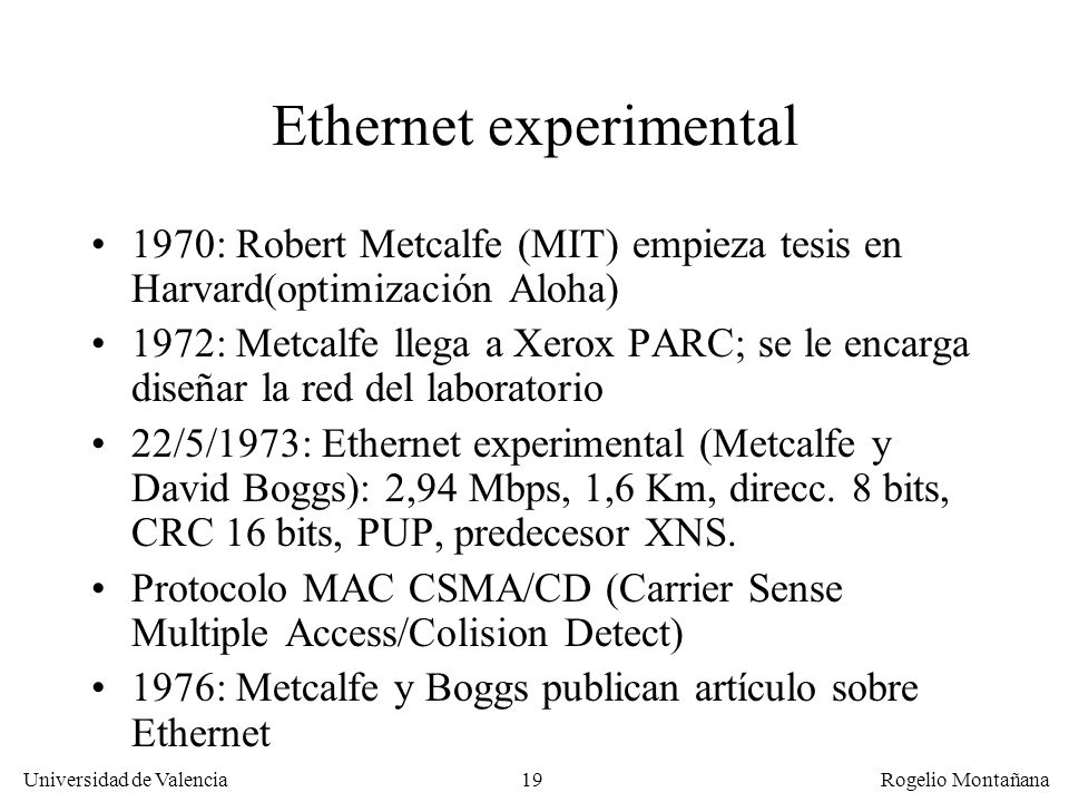 Ethernet experimental