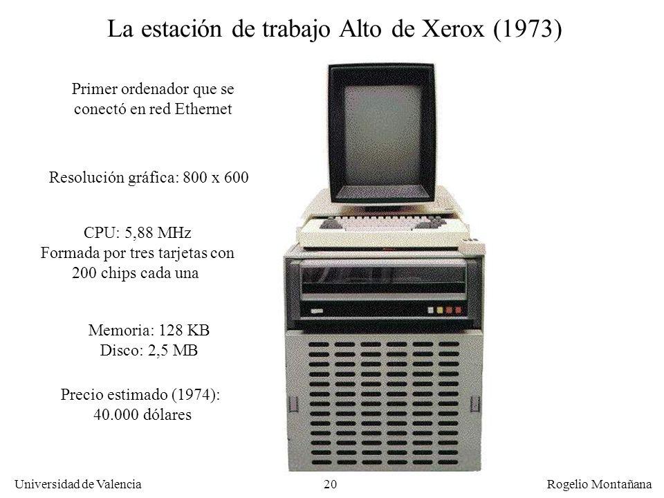 La estación de trabajo Alto de Xerox (1973)