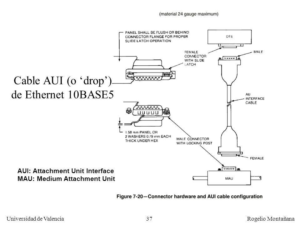Cable AUI (o 'drop') de Ethernet 10BASE5