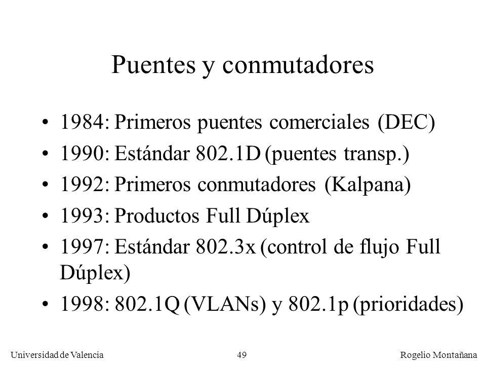 Puentes y conmutadores