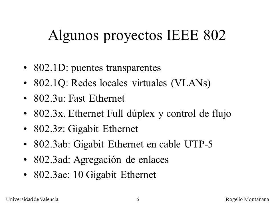 Algunos proyectos IEEE 802