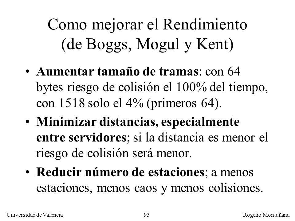 Como mejorar el Rendimiento (de Boggs, Mogul y Kent)