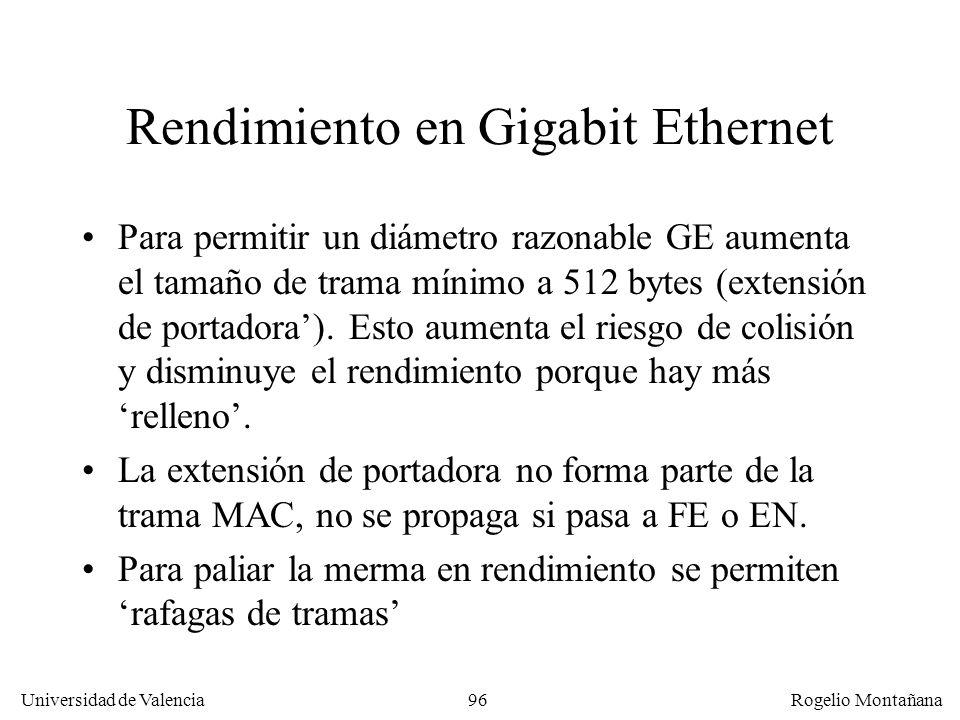 Rendimiento en Gigabit Ethernet