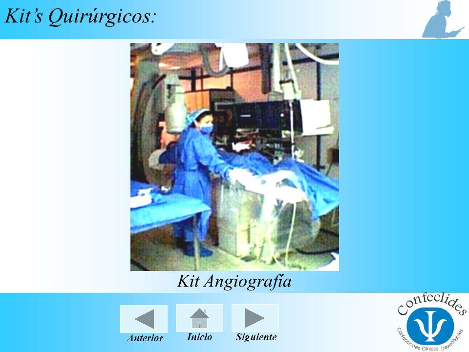 Kit's Quirúrgicos: Kit Angiografía Anterior Inicio Siguiente