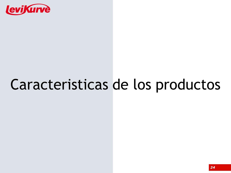 Caracteristicas de los productos