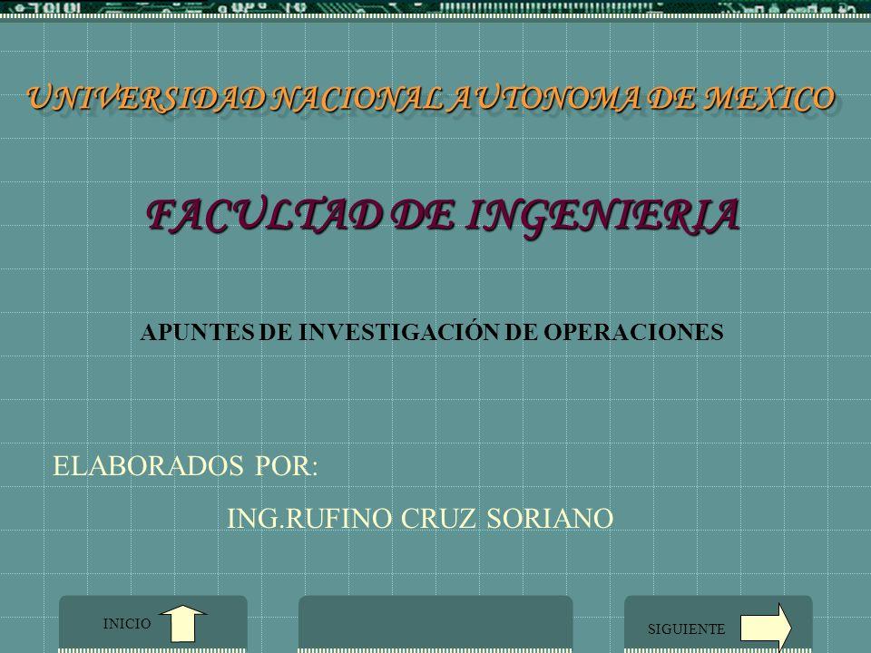 UNIVERSIDAD NACIONAL AUTONOMA DE MEXICO FACULTAD DE INGENIERIA
