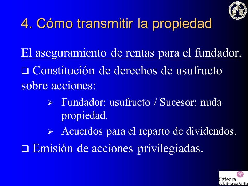 4. Cómo transmitir la propiedad
