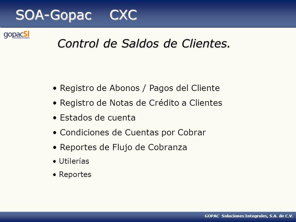 SOA-Gopac CXC Control de Saldos de Clientes.
