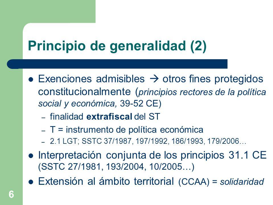 Principio de generalidad (2)