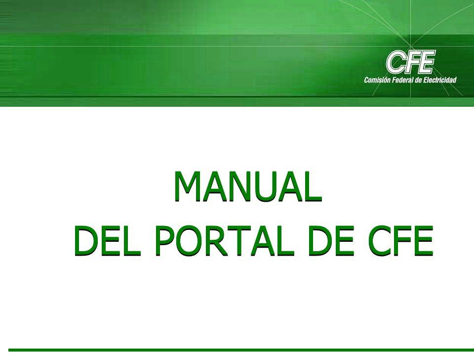 MANUAL DEL PORTAL DE CFE
