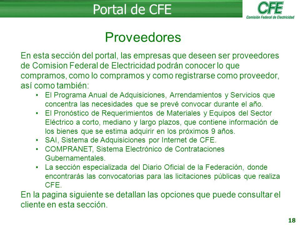 Portal de CFE Proveedores
