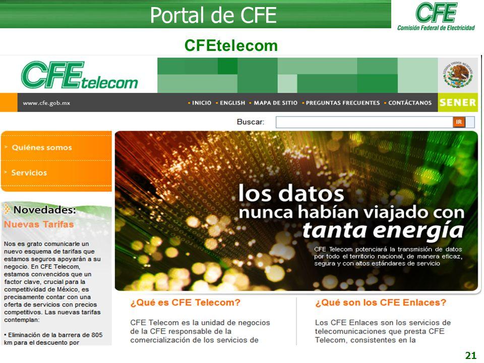 Portal de CFE CFEtelecom