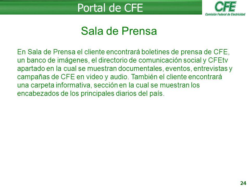 Portal de CFE Sala de Prensa