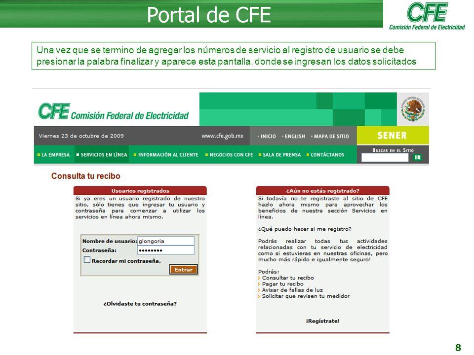 Portal de CFE