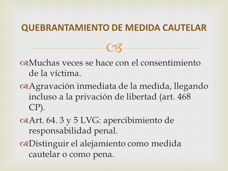 QUEBRANTAMIENTO DE MEDIDA CAUTELAR